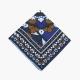 Синий шёлковый платок с витражным орнаментом VARSUTIE