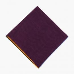 Фиолетовый платок из шерсти и шелка с цветными кромками VARSUTIE