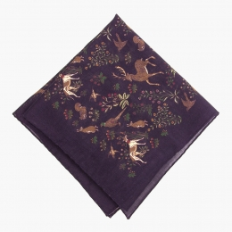 Фиолетовый платок с анималистическим орнаментом VARSUTIE