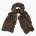 Летний коричневый шарф из кашемира и шёлка FOUR-IN-HAND