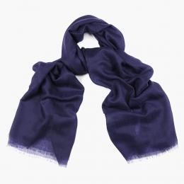 Летний синий шарф из кашемира и шёлка FOUR-IN-HAND