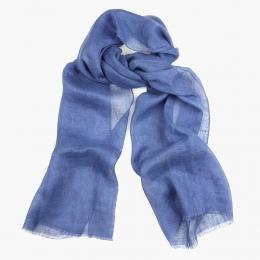 Синий льняной шарф DANDY STREET