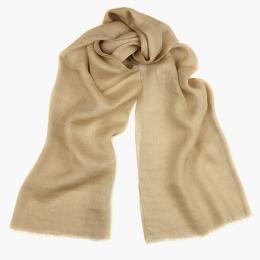 Пшенично-бежевый льняной шарф FOUR-IN-HAND