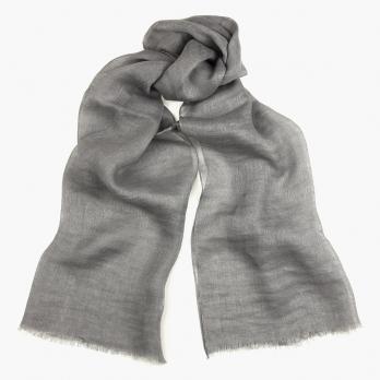 Серый льняной шарф FOUR-IN-HAND