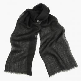 Черный льняной шарф FOUR-IN-HAND