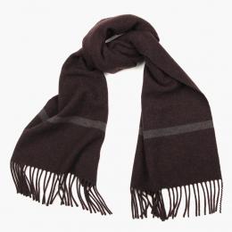 Кашемировый бордово-коричневый шарф FOUR-IN-HAND