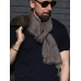 Бежевый льняной шарф FOUR-IN-HAND