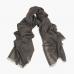 Темный бежевый тонкий кашемировый шарф FOUR-IN-HAND