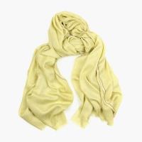 Светлый хаки тонкий шарф из кашемира и шёлка FOUR-IN-HAND