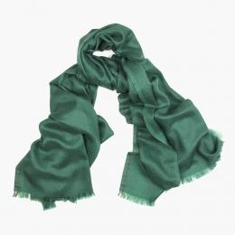 Зеленый тонкий шарф из кашемира и шёлка FOUR-IN-HAND