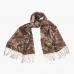 Кашемировый коричневый шарф с узором пейсли FOUR-IN-HAND