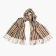 Кашемировый многоцветный полосатый шарф FOUR-IN-HAND