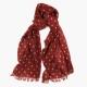 Красный кашемировый шарф FOUR-IN-HAND в горошек