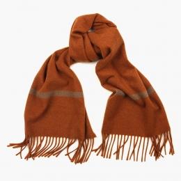 Кашемировый коричневый (rust) шарф FOUR-IN-HAND