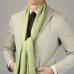 Светло-зеленый тонкий шарф из кашемира и шёлка FOUR-IN-HAND