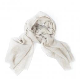Тонкий светло-бежевый кашемировый шарф FOUR-IN-HAND