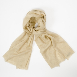 Светлый бежевый кашемировый шарф FOUR-IN-HAND