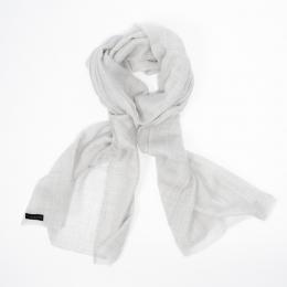Тонкий серый кашемировый шарф FOUR-IN-HAND