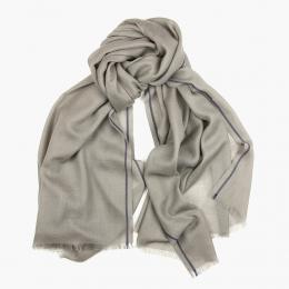 Серый шарф из кашемира и шелка FOUR-IN-HAND