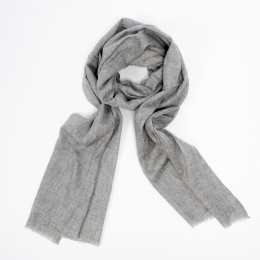 Серый кашемировый шарф FOUR-IN-HAND