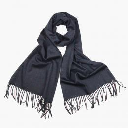 Кашемировый синий  шарф в тонкую полоску FOUR-IN-HAND