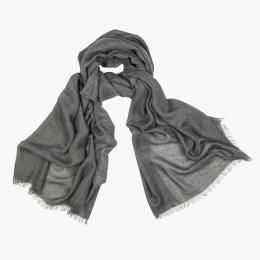 Темно-серый тонкий кашемировый шарф FOUR-IN-HAND