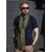 Зеленый льняной шарф FOUR-IN-HAND