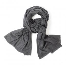 Черный кашемировый шарф FOUR-IN-HAND
