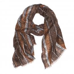 Шерстяной шарф в коричневых тонах Romanico FUUXXI