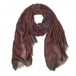 Бордово-коричневый шарф Neoclassico FUUXXI