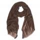 Коричневый шерстяной шарф Nouveau FUUXXI
