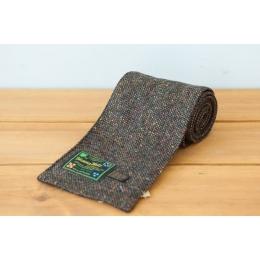 Коричневый твидовый шарф HANNA HATS
