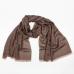 Коричнево-серый кашемировый шарф MA.AL.BI
