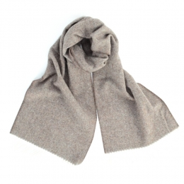 Бежевый шерстяной шарф JOHN HANLY #513