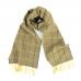 Двусторонний синий с желтым клетчатый шарф JOHN HANLY #545