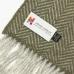 Зеленый в ёлочку шарф из шерсти и кашемира JOHN HANLY #2423