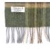 Шерстяной зеленый шарф в клетку JOHN HANLY #1979