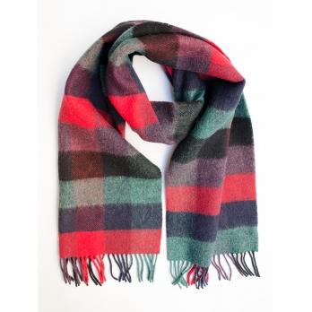 Многоцветный шерстяной шарф в клетку #583 JOHN HANLY