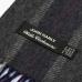 Серый в полоску шарф из шерсти и кашемира JOHN HANLY #8036