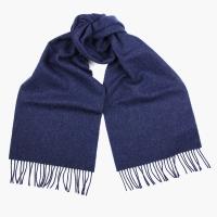 Синий шерстяной шарф JOHN HANLY #586