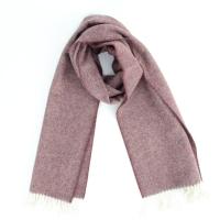 Пурпурно-фиолетовый шерстяной шарф JOHN HANLY #509