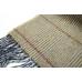 Светлый бежевый шерстяной шарф в клетку #532 JOHN HANLY