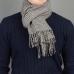 """Серый шарф в клетку """"Принц Уэльский"""" JOHN HANLY #246"""
