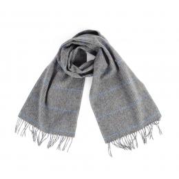Серый клетчатый шарф JOHN HANLY #533