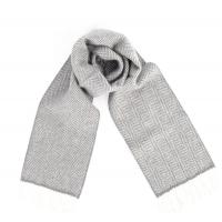 Серый в ёлочку шарф JOHN HANLY #2421