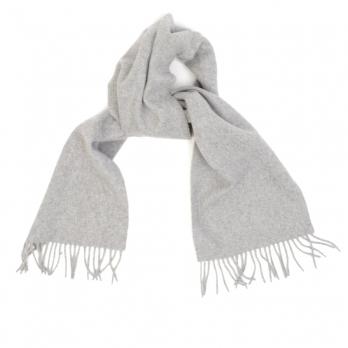 Серый шарф из шерсти и кашемира JOHN HANLY #8012