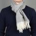 Серый шерстяной шарф JOHN HANLY #519