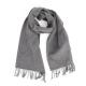 Серый шерстяной шарф JOHN HANLY #591