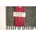Шерстяной клетчатый шарф в коричневых тонах #527 JOHN HANLY