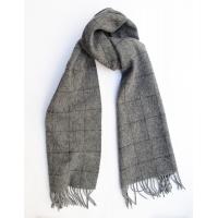 Шерстяной серый шарф в клетку #530 JOHN HANLY